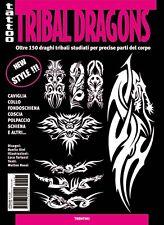 Inspire UK TB227 Draghi Tribale Tatuaggio Flash... Rivenditore Regno Unito