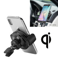 360°Qi Wireless Car Charger Air Vent Mount Holder For Samsung Note 8 iPhone 8 X