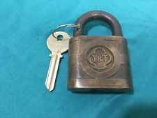 Antique Yale & Towne Padlock w/ Key Blank - 177325 - Locksmith