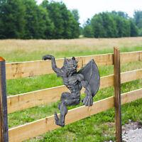Garten Statue Monster Dekorative Accent Wand Skulptur Zaun Aufhänger Statue