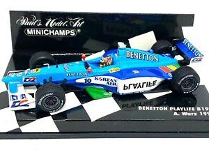 1:43 scale Minichamps Benetton B199 F1 Car - Alex Wurz 1999 Diecast F1 Model