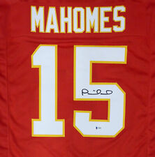 KANSAS CITY CHIEFS PATRICK MAHOMES AUTOGRAPHED SIGNED RED JERSEY BECKETT 171256