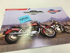 Honda Shadow 1100 American Classic Edition VT1100C prospectus catalogue brochure