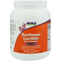 NOW Foods Sunflower Lecithin Pure Powder 1 lb FREE SHIPPING. MADE IN USA