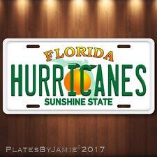Miami Hurricanes Florida Aluminum License Plate Tag New