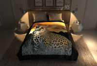 4Estaciones Leopard Blanket King Queen Blanket Lightweight Faux Fur by Solaron