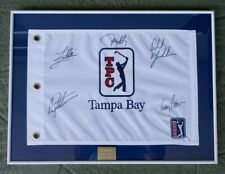 2007 PGA TOUR TPC TAMPA BAY FRAMED GOLF PIN FLAG PHIL MICKELSON AUTOGRAPH & MORE
