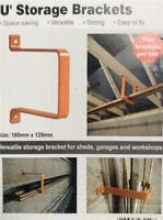 CLEARANCE LOT 49 PACK 2 HEAVY DUTY STORAGE BRACKETS GARAGE SHED WALL / CEILING