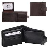 Arnicus Mens - Gents Soft Genuine Leather Flip Up Wallet - RFID Blocking