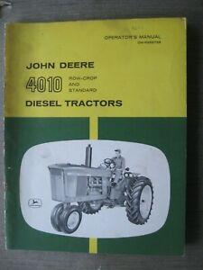 John Deere 4010 Row Crop and Standard Diesel Tractor Operators Manual OM-R32129R