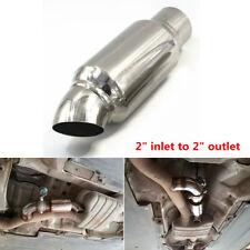 Car Exhaust Pipe Muffler Tip Resonator Anti Break Sound Stainless Steel Silencer
