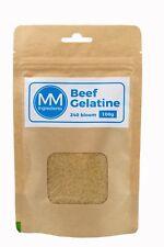 BEEF Gelatine Powder 100G. 240 Bloom. Unflavoured powdered gelatine or gelatin