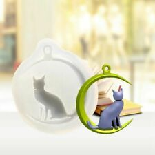 Silicone Mold Moon Cat Epoxy Resin Mould Jewelry Making Crafts Decor Stylish xk