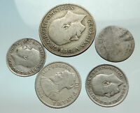 GROUP LOT of 5 Old SILVER Europe or Other WORLD Coins for your COLLECTION i75672