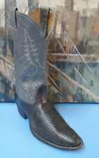 Nocona Men's Western Boots in Black Lizard and Leather Size 8D