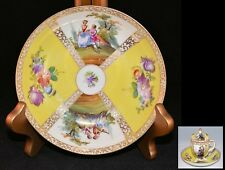 RARE Dresden YELLOW SAUCER (for Snake Handle & Paw Footed Pot de Creme Cup)