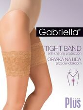 Gabriella Lace Thigh Band - Anti Chafing - Stops Legs Rubbing Together - BEIGE