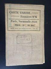 Ancienne carte routière Taride N°4 Paris Normandie