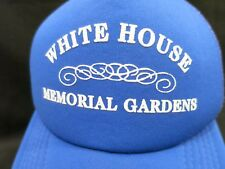 Trucker Hat Royal Blue White House Memorial Gardens Adjustable Mesh Foam Front