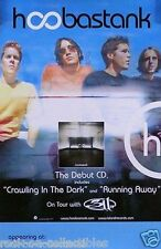 Hoobastank 2001 Debut Album Original Double Sided Tour Promo Poster