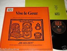DE GEUZEN Dirk & Makkers vive le geuz LP Vive Le Geus Rec GER + INSERT Rare FOLK
