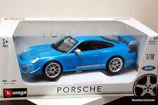 Burago - Porsche 911 ( 997 ) GT3 RS 4.0 - blau - 1:18 Bburago