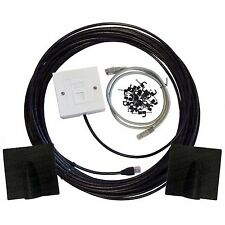 50m Cat6 Exterior al aire libre Cable De Red Ethernet Kit de Extensiones de la placa frontal Caja