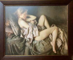 Artwork on canvas framed Signed