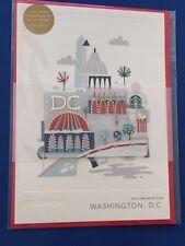 NEW 2016 WASHINGTON DC Christmas Holiday Starbucks Greeting Gift Card w/$0 bal