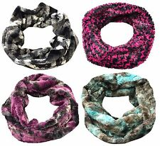 Pia Rossini - Womens Luxury Winter Chunky Faux Fur Twist Snood / Infinity Scarf