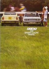 Fiat 128 Sport Coupé 1300 SL 1972-75 original del Reino Unido Folleto de ventas de junio de 1974