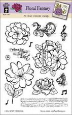 Hot off the Press FLORAL FANTASY Clear Stamp Set HOTP1190 13 Stamps Music Flower