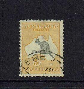 AUSTRALIA PRE-DECIMAL ...5/- SHILLING KANGAROO....C of A WATERMARK...