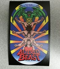 Altered Beast cabinet art sticker. 4 x 6.5. (Buy 3 stickers, Get One Free!)
