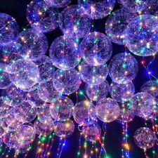 """6x 20"""" LED Balloon Leucht Luftballon Helium für Geburtstag Hochzeit Weihnachten"""