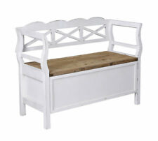 Vintage Bank Farmhouse Furniture Bench Country Style Chest Wooden Seat New