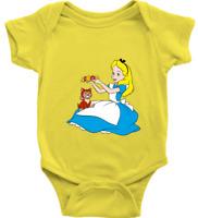 Infant Baby Rib Bodysuit Babysuits Gift Cute Alice & Cat Kitty Disney Classic