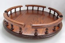 """NEW 16"""" Amish Handcrafted Solid Oak Wood lazy susan turn table condiment server"""