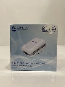 Asoka PlugLink ETH-500 Mbps HomePlug Powerline Ethernet Adapter.              D8