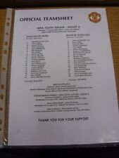 17/09/2013 Manchester United Youth U19 v Bayer Leverkusen Youth U19 [UEFA Youth