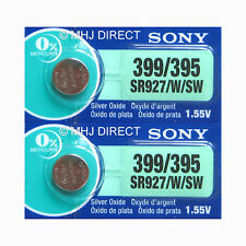 2 x Genuine SONY 395 SR927SW SR57 Watch Batteries Silver Oxide 0% Mercury