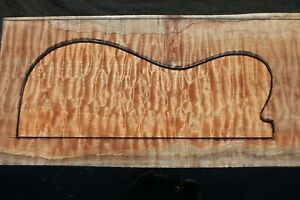 """SPALTED QUILTED MAPLE 24 1/4"""" X 9 3/4"""" X 1 1/4"""": GUITAR, LUTHIER, CRAFT, SCALES"""