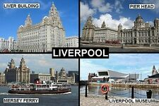 SOUVENIR FRIDGE MAGNET of LIVERPOOL ENGLAND