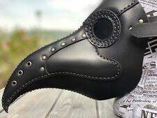 Plague Doctor Mask - Black Leather Mask - Plague Doctor Bird Mask