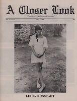 LINDA RONSTADT / BUFFALO SPRINGFIELD 1968 A CLOSER LOOK NEWSPAPER / NMT 2 MINT