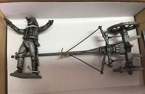7426 009 Soldado y ruedas Grand Armée Napoleon Figura Soldado de plomo Atlas