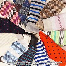 RANDOM 10-Pairs KOREA Polka Dot Stripe Fancy Colorful Cotton Sock Size 10-13