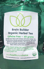 Brain Builder Organic Herbal Tea - promotes focus, memory and concentration