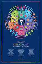 COLDPLAY - A HEAD FULL OF DREAMS WORLD TOUR CONCERT POSTER - LOOKS GREAT FRAMED