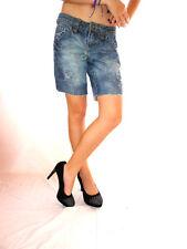 Fishbone Womens Vtg Look Distress Jeans Crop Pants Custom Hot Pants sz S/M AG31